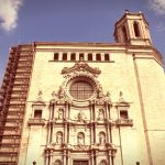 shutterstock_237562594_Girona Cathedral - catholic church in Catalonia, Spain. Beautiful religious architecture. Cross processed color tone - retro filtered style.